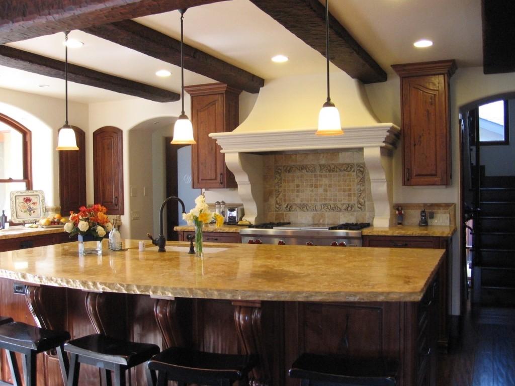 Custom Carved Stonework Tiles Amp Range Hood Surrounds