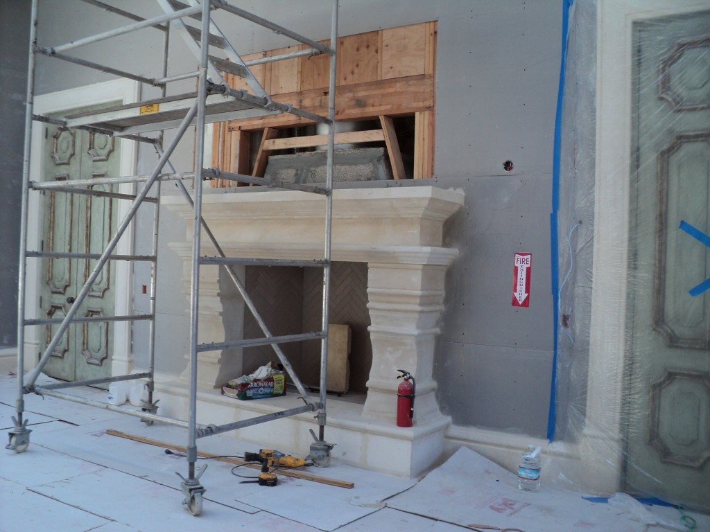 stone carving process custom fireplace mantel u0026 pavers