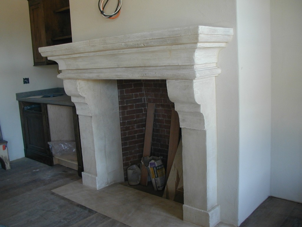 Natural limestone fireplace mantels can be designed with the help of Stone Creations who have the expertise for custom stone carving of architectural elements.